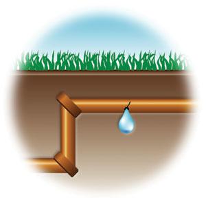 water sewer pipe underground
